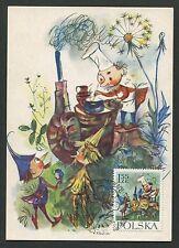 POLEN MK 1962 MÄRCHEN HEINZELMÄNNCHEN FAIRY TALES CARTE MAXIMUM CARD MC CM d6014