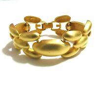 Vintage Givenchy Gold Tone XO Link Chunky Bracelet