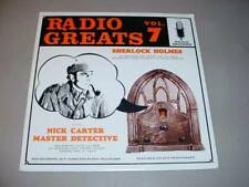 SHERLOCK HOLMES / NICK CARTER LP Radio Greats Volume 7 RG-107