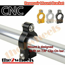 Universal CNC Brake Fluid Reservoir Mount Bracket Adapter for 22mm Handle bar
