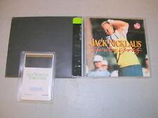 JACK NICKLAUS TURBO GOLF (Turbo Grafx 16 TGX TG-16 Duo CD) Complete