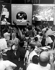 New 8x10 Photo: Mission Control Celebrates Apollo 11 Lunar Moon Landing - 1969