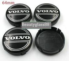 Set of 4 Volvo 64mm Black Alloy Wheel Centre Cap S40 S60 S80L XC60 XC90 S90 V70