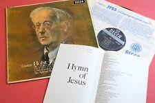 SXL 6006 WBg ED1 Holst Hymn of Jesus BBC LPO Boult DECCA UK STEREOLP 1st