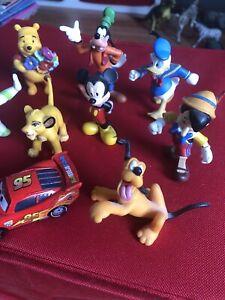 Lot Figurines Disney Pixar BULLYLAND hand painted original Vintage +Voiture Cars