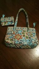 Vera Bradley - Summer 2009 - Bali Blue - Little Betsy Bag with Matching Wallet