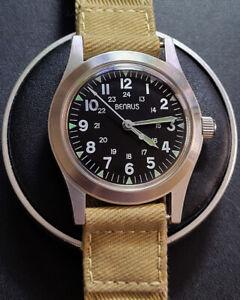 Benrus MIL-W-46374 military reissue D-Day watch Swiss ETA 2801-2 ,SERVICED