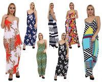 Ladies Womens Italian Drape Cami Sleeveless Strappy Lagenlook Long Maxi Dress