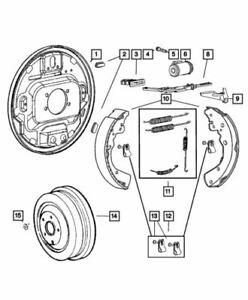 Genuine Mopar Brake Shoe Hold Down Spring Kit 5159112AC
