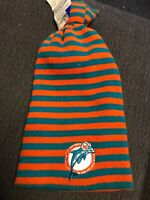 Vintage 1990s MIAMI DOLPHINS HAT VINTAGE BEANIE STYLE NFL