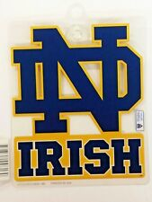 NCAA Notre Dame Fighting Irish Suction Cup Window Sign, NEW