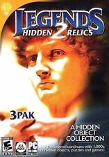 Legends 2 Hidden Relics 3-Pak PC Games Window 10 8 7 hidden object seek and find