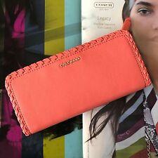Cole Haan Addey Sugar Blush Pink Leather Slim Bifold Long Wallet Phone Case NWT