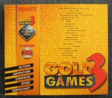 Spielesammlung Gold Games 3 mit allen 24 CD-Roms (PC, 1998) + Buch