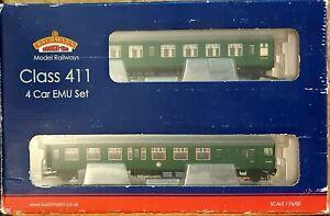 BACHMANN OO GAUGE LATE S.R. GREEN CLASS 411 4 CAR E.M.U. SET 31-425 Boxed DCC