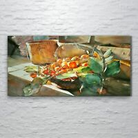 Wall Art Glass Print painting drawing food fruit healthy 120x60