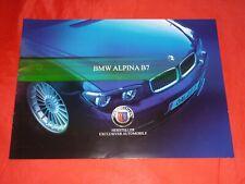 BMW ALPINA B7 E65 Preview Prospekt Brochure Depliant von 2003