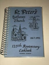 Reedsburg Wisconsin St Peters Lutheran Church 125 Anniversary Cookbook 1992