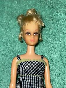 Vtg Francie Doll Blonde Mod In #1291 Check This Bend Legs Twist Body