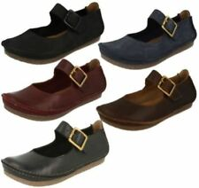 Clarks Buckle Leather Flats for Women
