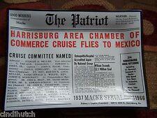 Vintage The Patriot Harrisburg Pa Newspaper Advertisement Glass Trinket Tray