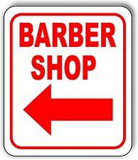 Barber Shop Left Arrow Metal Aluminum Composite Sign