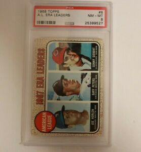 1968 Topps AL ERA Leaders  #8 PSA 8