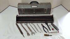 Vintage Craftsman Mechanics Tool Box & Tools W/Removable Top Tray Crown Logo!