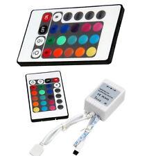 24 Key IR Remote LED RGB 5050 3528 Controller Music Sound Light Strip Bulbs