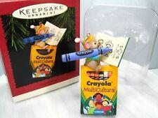 Crayola Crayon Mouse Multicultural Ornament 1995 Hallmark Keepsake Original Box