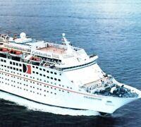 "MS Celebration ""Fun Ship"" Sank a freighter Carnival Cruise Line Vintage Postcard"