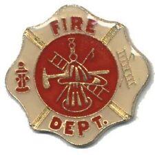 Hat Lapel Pin Push Tie Tac Fire Department Emblem NEW