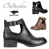 WOMENS LADIES ROCKET DOG DARYE CUT OUT CHELSEA ANKLE BOOTS BLACK BROWN SIZE