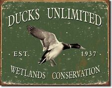 Ducks Unlimited Wetlands Conservation 1937 Metal Sign Tin New Vintage Style 1388