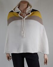 pull cape poncho a capuche femme SESSUN taille S ( 36 )