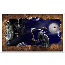 BEISTLE HALLOWEEN WALL CEILING PARTY DECORATION, OPEN GRAVE DEMON TOMBSTONE, NEW