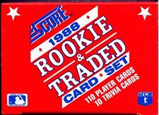 1988 Score Rookie & Traded Set - Factory Set - Craig Biggio & Alomar Rookie