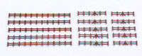 Kestrel KD13B. Farm Rail Fencing - Brown.(Plastic Model Kit) N Gauge Railway