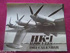 "Very Fine-HK-1 Hercules Hughes' ""FLYING BOAT"" Limited Edition 1982 CALENDAR"