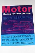 Motor 1971 January 9, Portable Boats/Hillman Hunter 1725 Estate/Ferrari GP Car