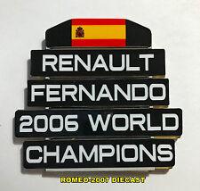 1:18 Pitboard F1 Formula1 Fernando Alonso Renault W.C. 2006 to minichamps NEW!
