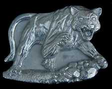 ATTACKING MOUNTAIN LION BELT BUCKLE PEWTER NEW!