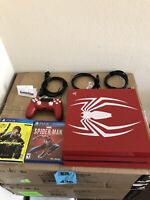 Sony PlayStation 4 Pro Limited Edition Marvel's Spider Man 1TB Red Console