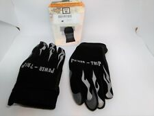 Power Trip Motorcycle Gloves Black Leather Man M