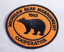 1985 MICHIGAN DNR SUCCESSFUL BEAR HUNTER PATCH -DEER-TURKEY-ELK-MOOSE-FISHING