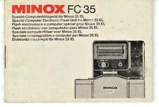 Minox FC 35 FC35 Instruction Manual Original multi language