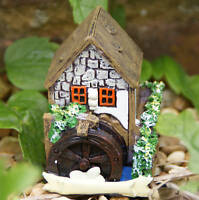FAIRY HOME / COTTAGE / HOUSE  GARDEN DECOR - White House Watermill FO_14724E