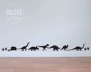 Dinosaur wall decal, baby dinosaur stickers, dinosaur decor, dinosaur wall decor
