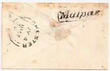 1847 QV 1d pink PS env Chester 180 framed Malpas Cheshire backstamp