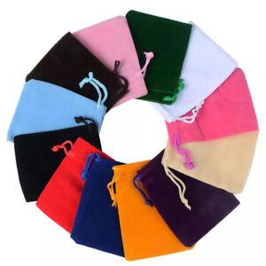 Bulk Sale! Velvet Drawstring Bags Velour Pouch Jewelry Baggie Wedding Gift Bag